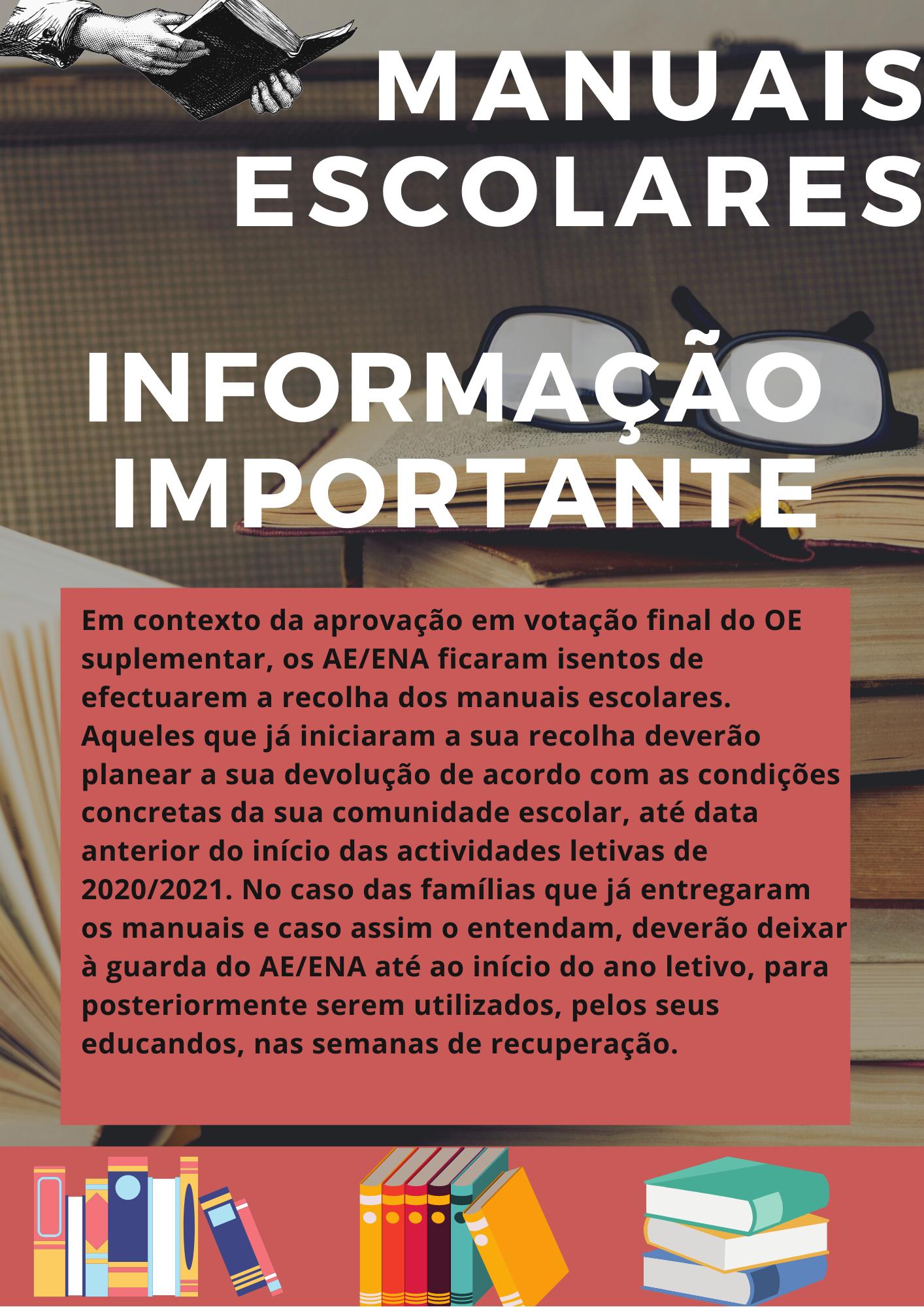 Manuais Escolares – Informação
