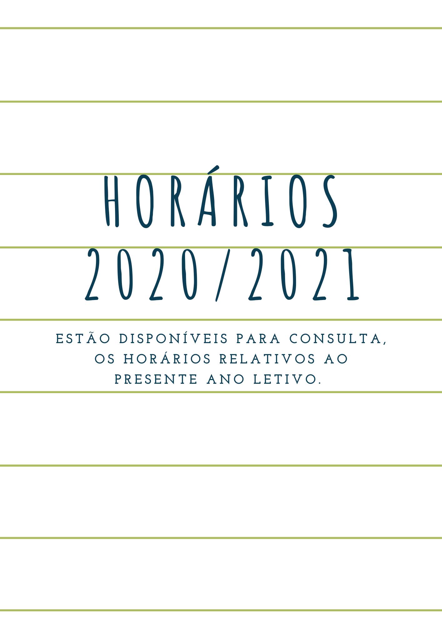 Horários 2020/2021