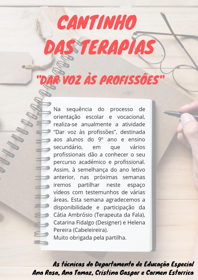 Dar Voz às Profissões :. Cantinho das Terapias